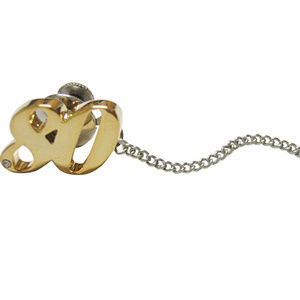 Gold Toned Age 80 Tie Tack